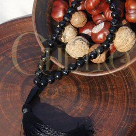 Жезл короля Четки на 33 бусины 10 мм из черного агата
