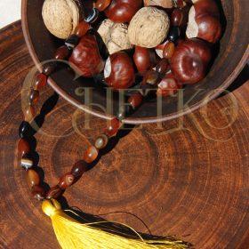 Басмати, четки на 33 бусины рис сардоникса, с кисточкой